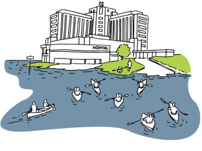 Le secteur de la santé face aux inondations - Illustration CEPRI