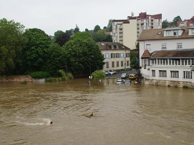 Inondation à Corbeil Essonne