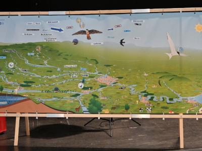 Fresque Seine Grandeur Nature utilisée par Terre Avenir lors du Forum de Provins en 2020