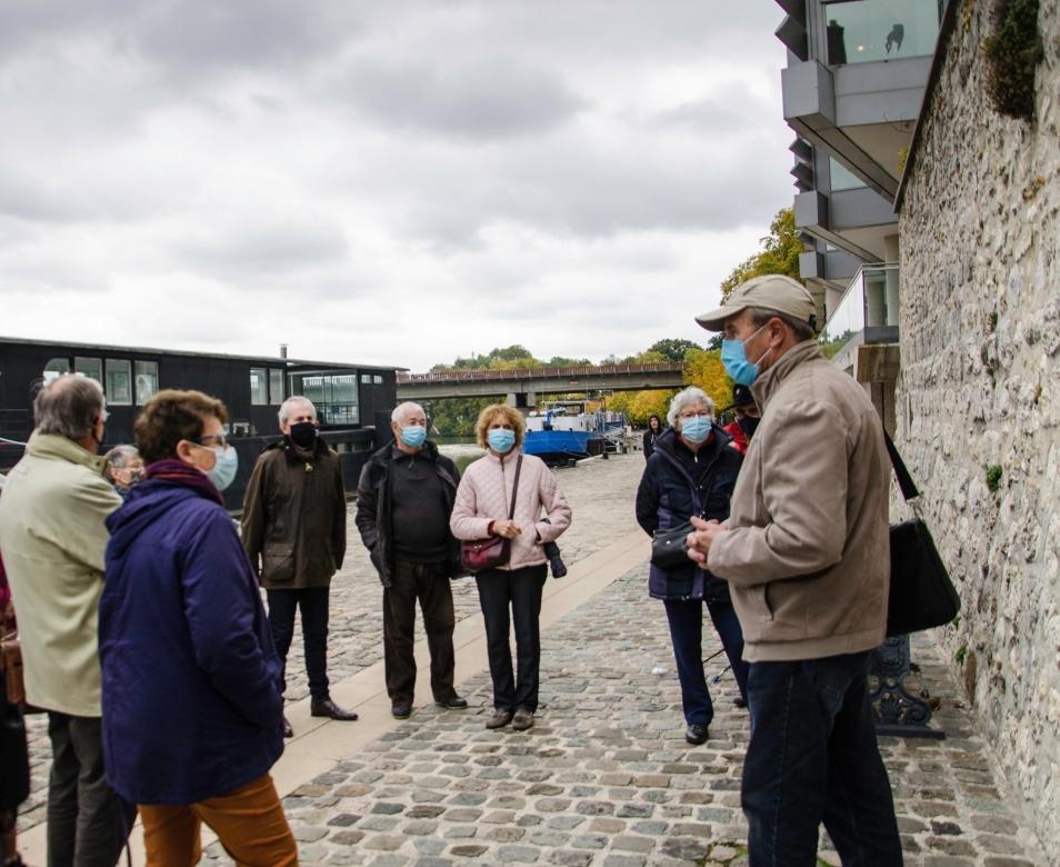 Balade urbaine 15 octobre 2020 - Melun, bords de Seine, derrière l'UIA. Photographie de Mary-Christine Vurpillot