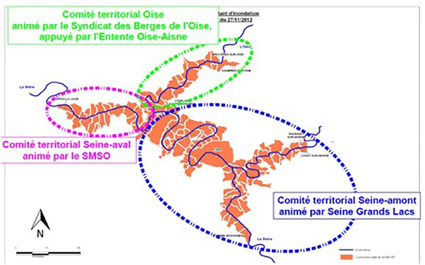 Les 3 comités territoriaux du TRI de la métropole francilienne