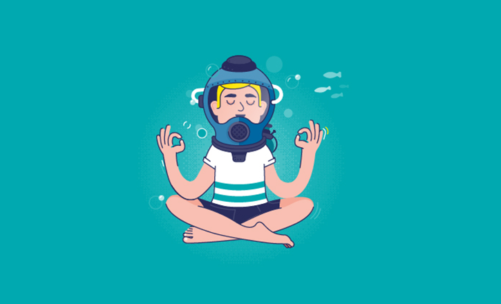 """Illustration """"Comment rester zen quand tout prendre l'eau ?"""""""