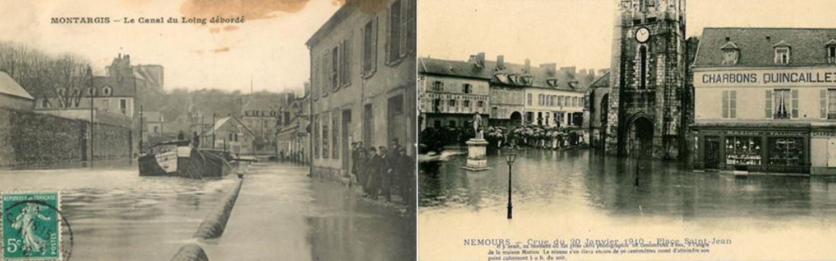 La crue du Loing de janvier 1910 à Montargis et Nemours.png