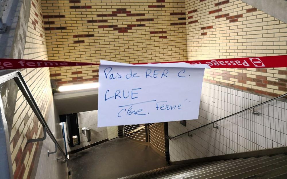 RER C fermé à cause de la crue ©LeParisien - Matthieu De Martignac