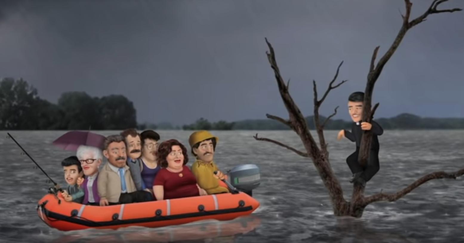 Vidéo têtes à claques inondation Canada